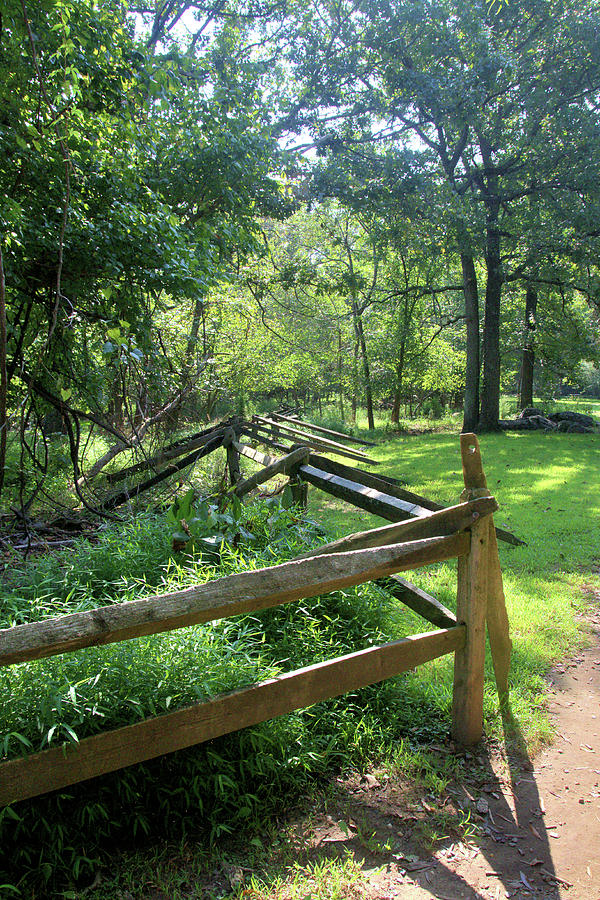 Rail Fence At Great Falls National Park Photograph by ...