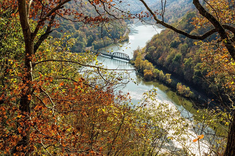 Railroad Bridge in Autumn by Fran Gallogly