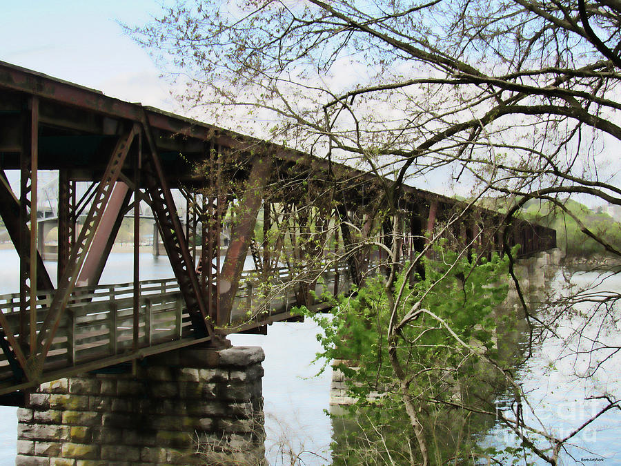 Railroad Bridge in Muscle Shoals Alabama by Roberta Byram