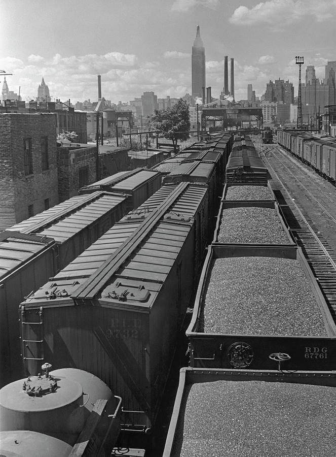 Railroad Cars Photograph by George Marks