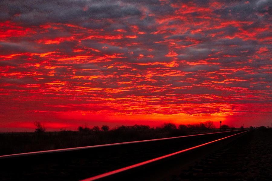 Railroad Sunrise by Tom Gresham