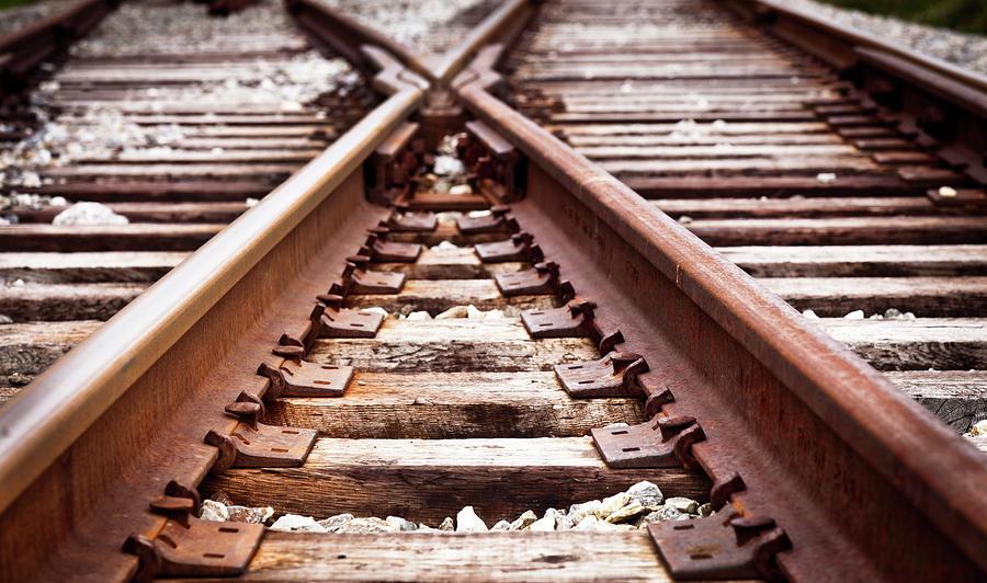 Railroad Tracks Photograph by Catlane