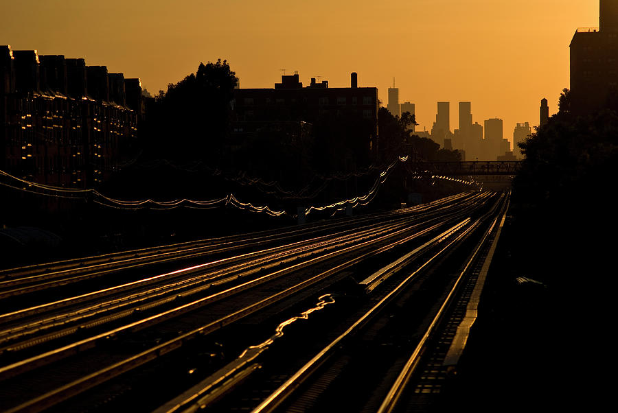 Railroad Tracks In The City Photograph by Win-initiative