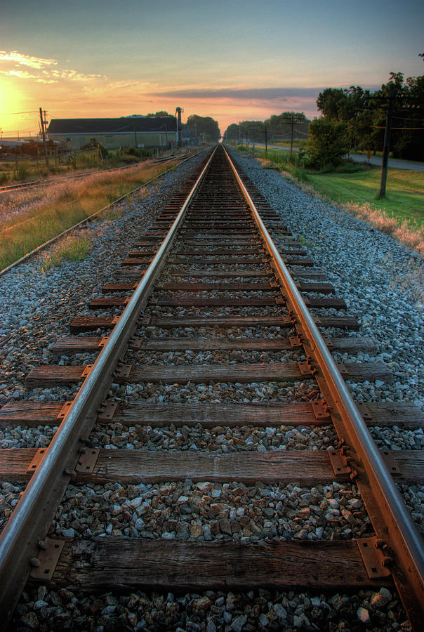 Railroad Tracks Photograph by Jerad Heffner
