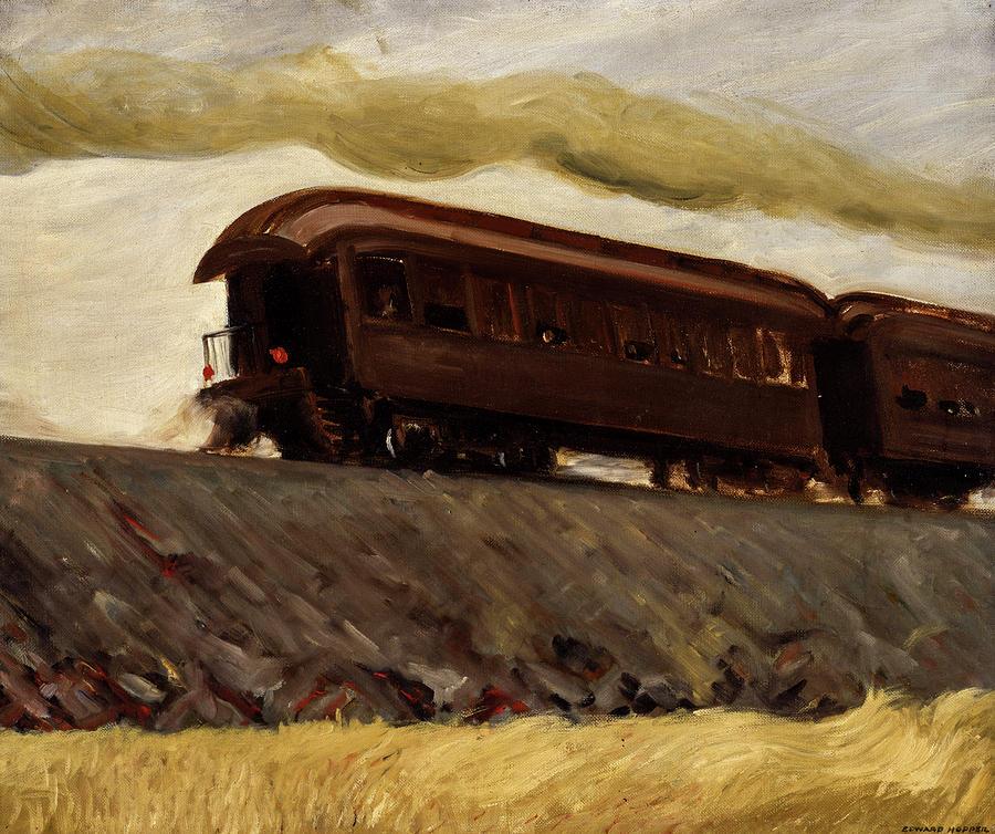 Edward Hopper Painting - Railroad Train, 1908 by Edward Hopper