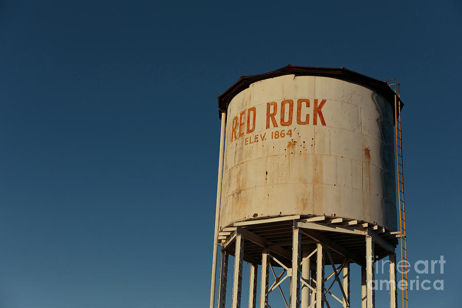 Sunset Photograph - Railroad Water Tower Red Rock Arizona by Edward Fielding