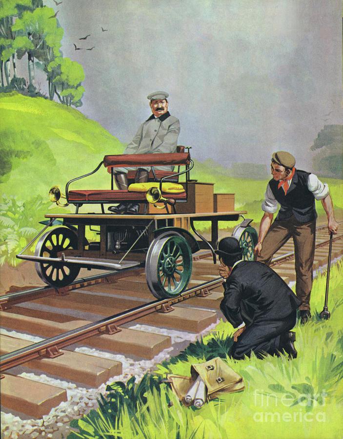 Railway Automobile Painting by Angus McBride