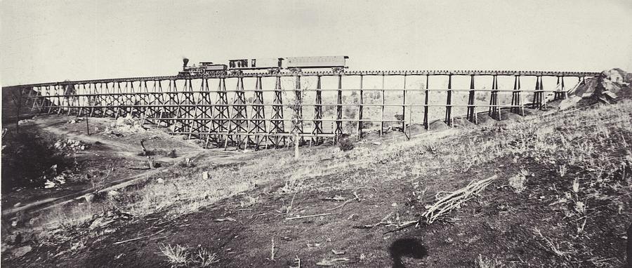 Railway Bridge Photograph by Otto Herschan Collection