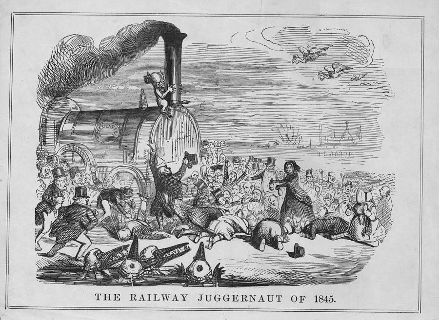 Railway Juggernaut Digital Art by Hulton Archive
