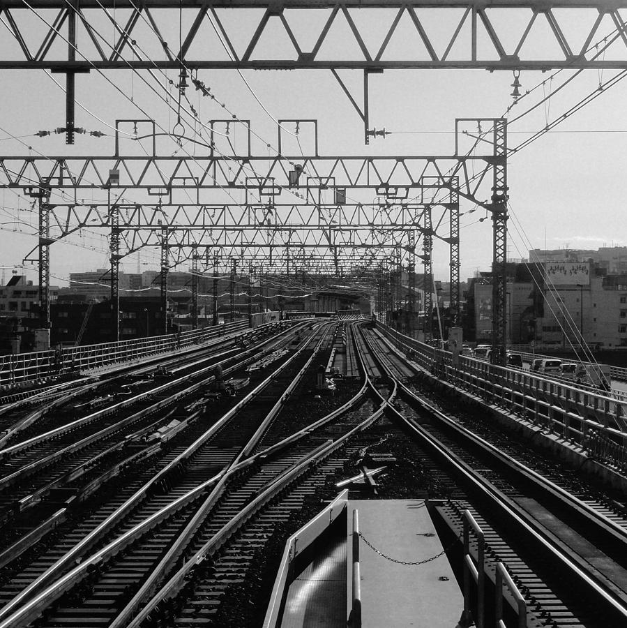 Railway Tracks In Japan Photograph by Sner3jp