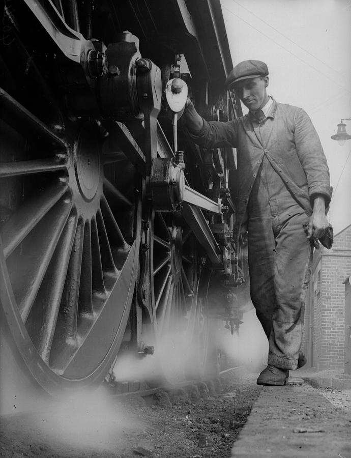 Railwayman Photograph by Fox Photos