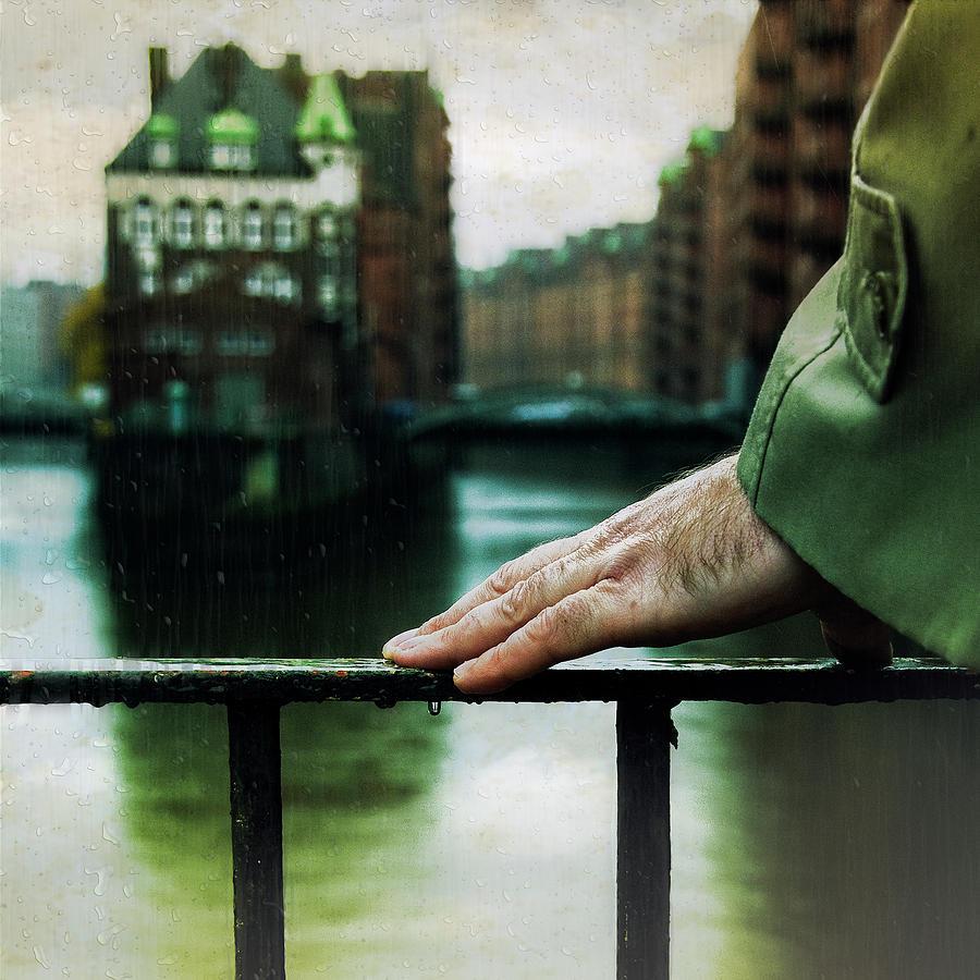 Hand Photograph - Rain by Ambra