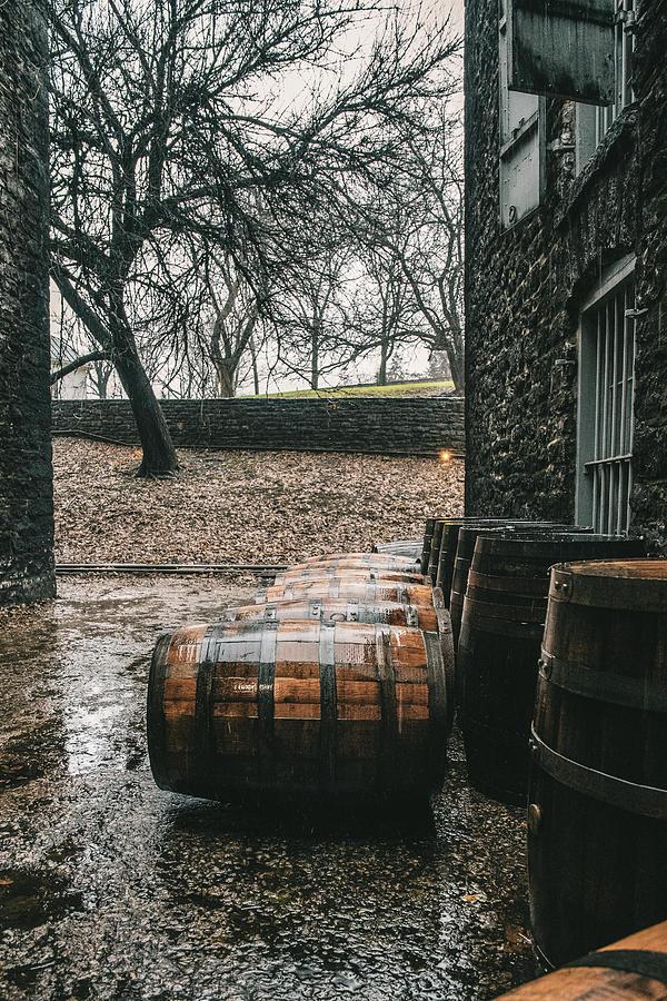 Rain on Bourbon Barrel  by Joseph Caban