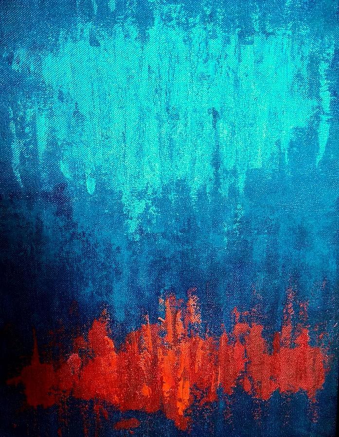 Rain On Fire Painting