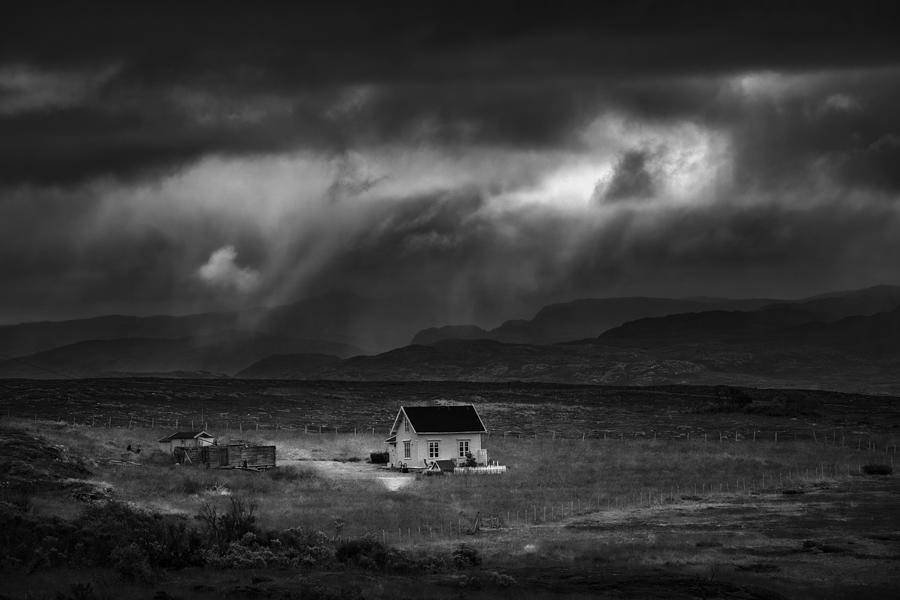 Finnmark Photograph - Rain Showers by Viggo Johansen