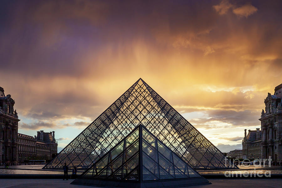 Rain Storm over Musee du Louvre by Brian Jannsen