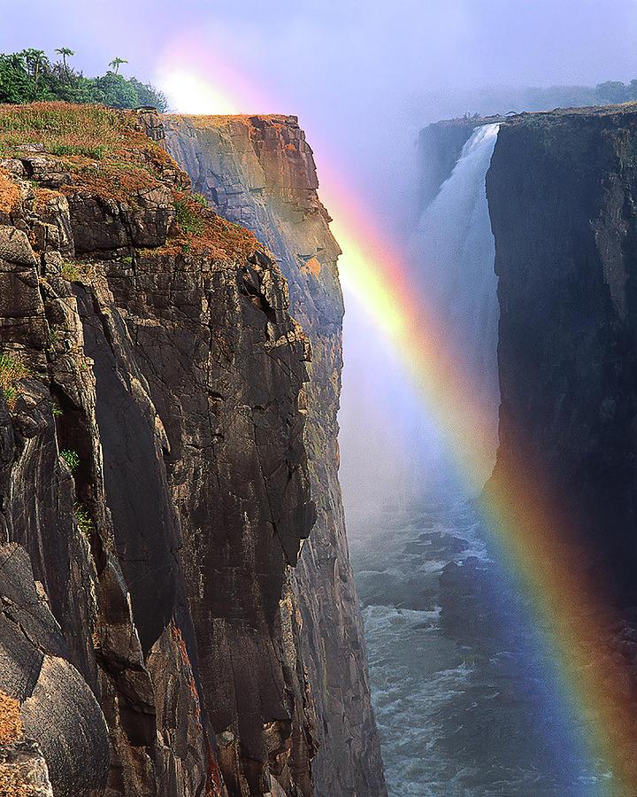 Rainbow And Falls Victoria Falls Zimbabwe Africa