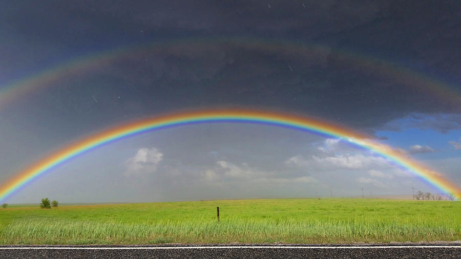 Weather Photograph - Rainbow And The Open Road by Ally White