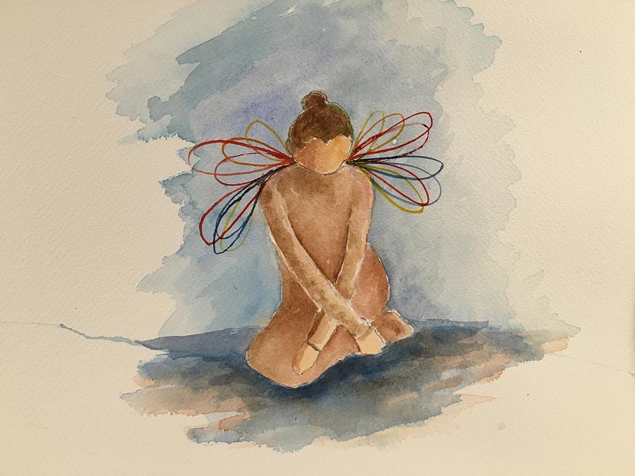 Rainbow Angel Painting - Rainbow Angel by Marita McVeigh
