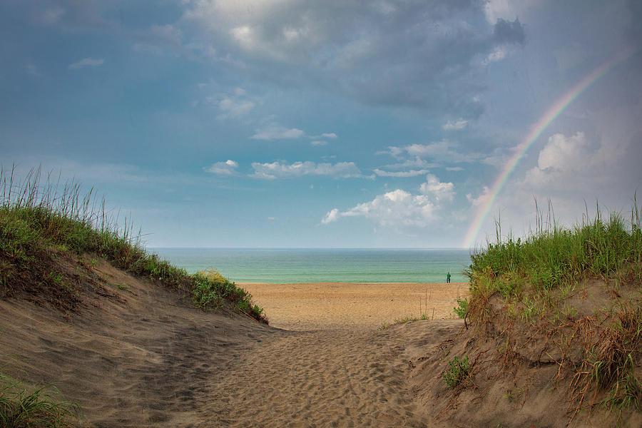 Rainbow at OBX  by Emmanuel Panagiotakis