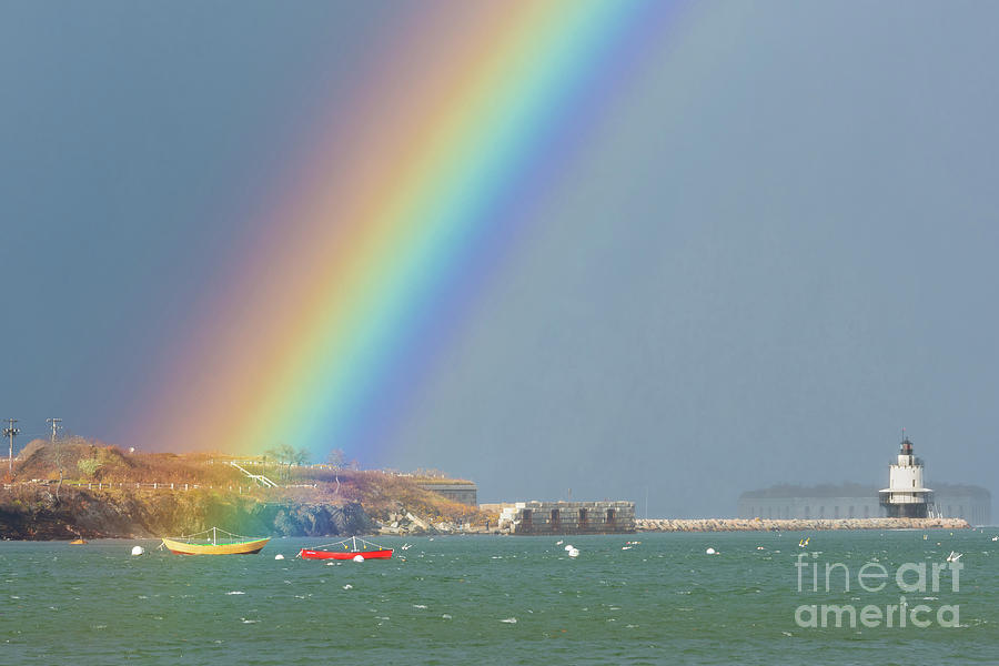 Rainbow at Spring Point Ledge by Jesse MacDonald
