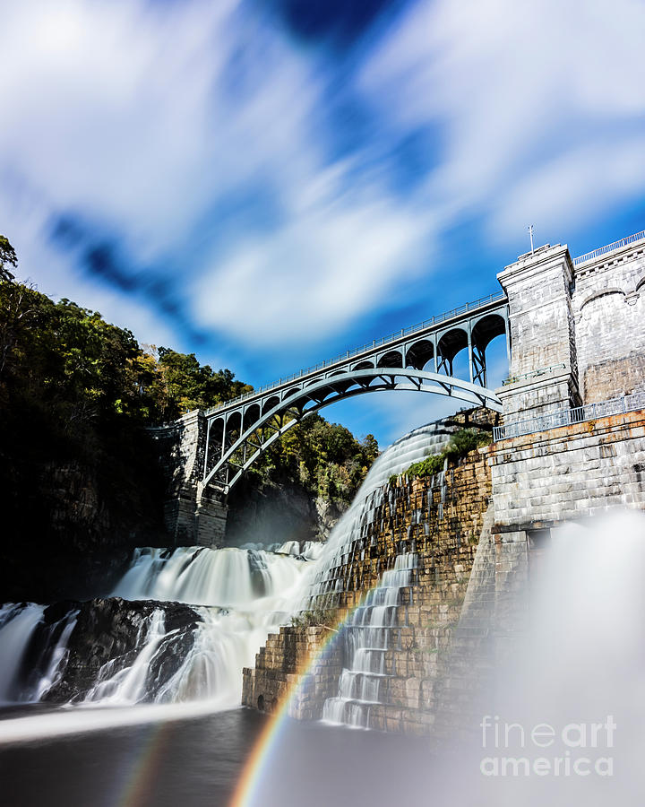 Rainbow at the Dam by Sally Morales