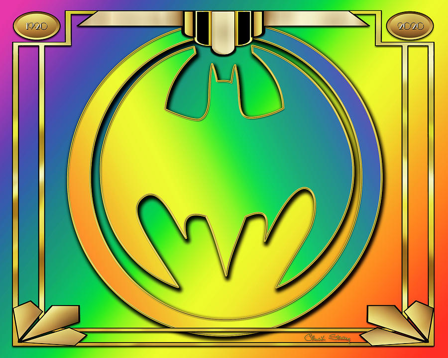 Rainbow Bat Design by Chuck Staley