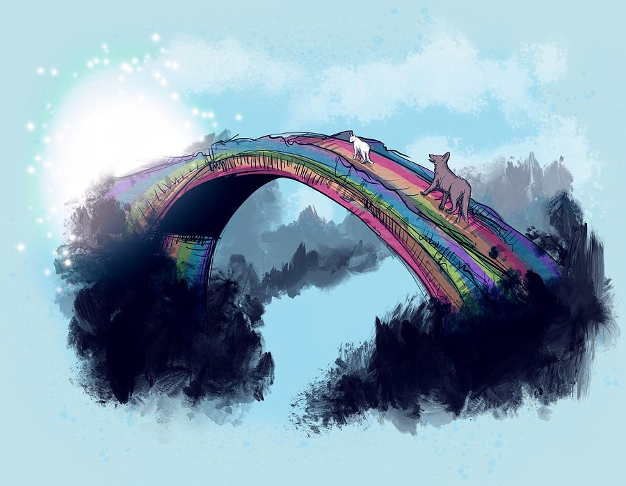 Rip Drawing - Rainbow Bridge by Ludwig Van Bacon