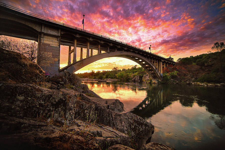 Rainbow Bridge Sunset by Janet Kopper