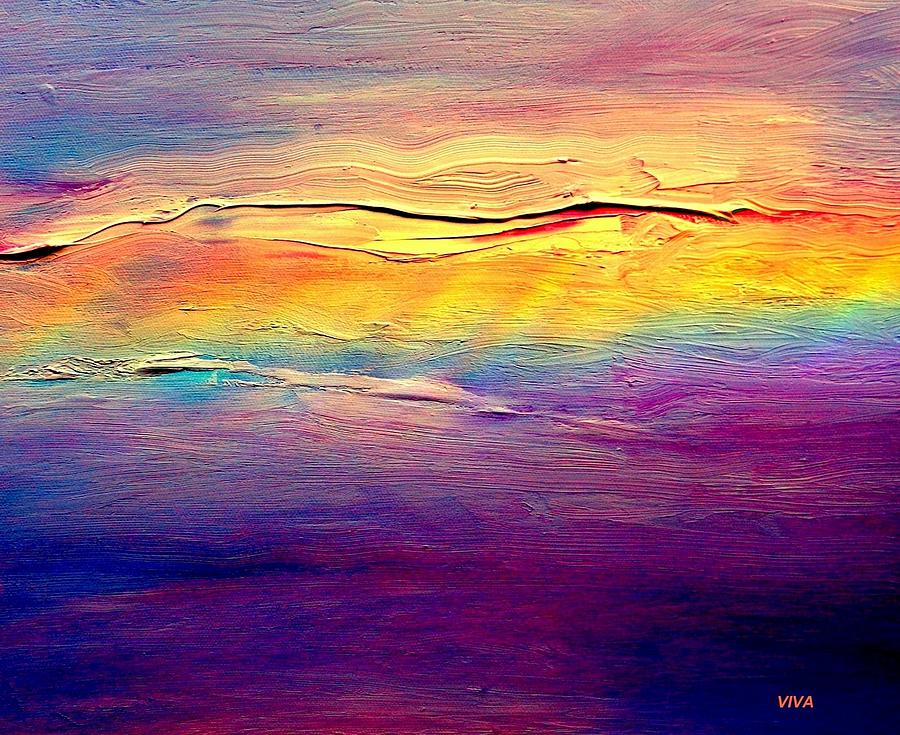 Clouds Painting - Rainbow Clouds Full Spectrum -dedicated                     by VIVA Anderson