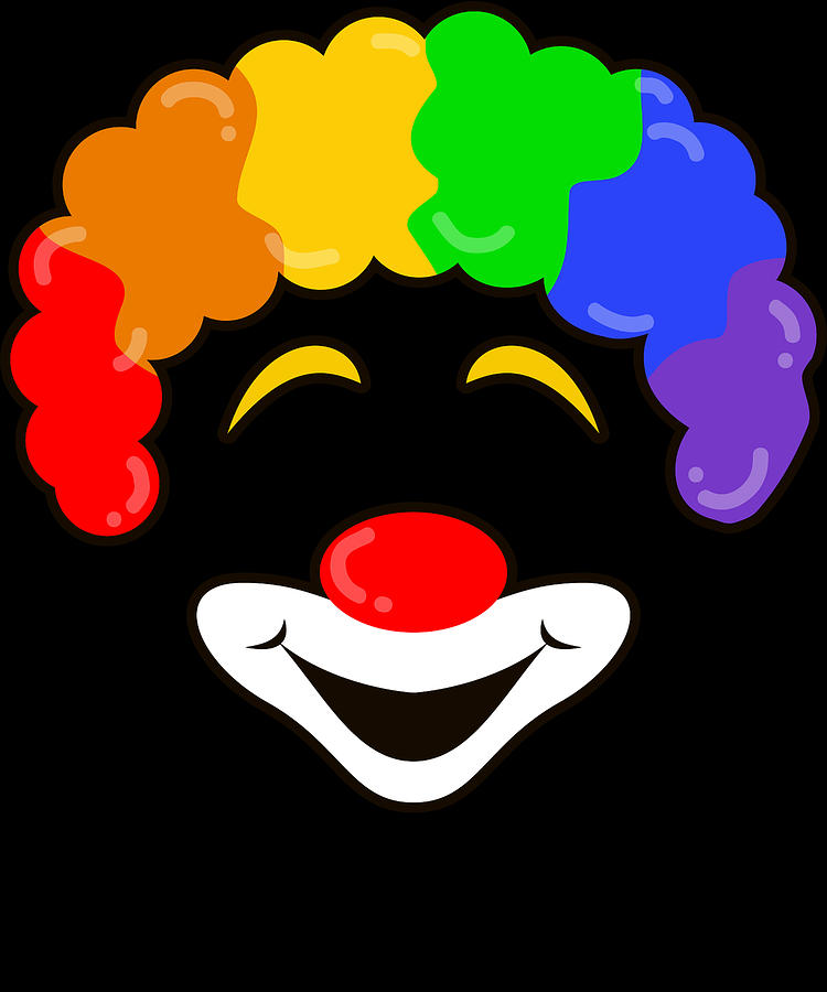 halloween digital art rainbow clown smiling halloween jester joker face dark by nikita goel