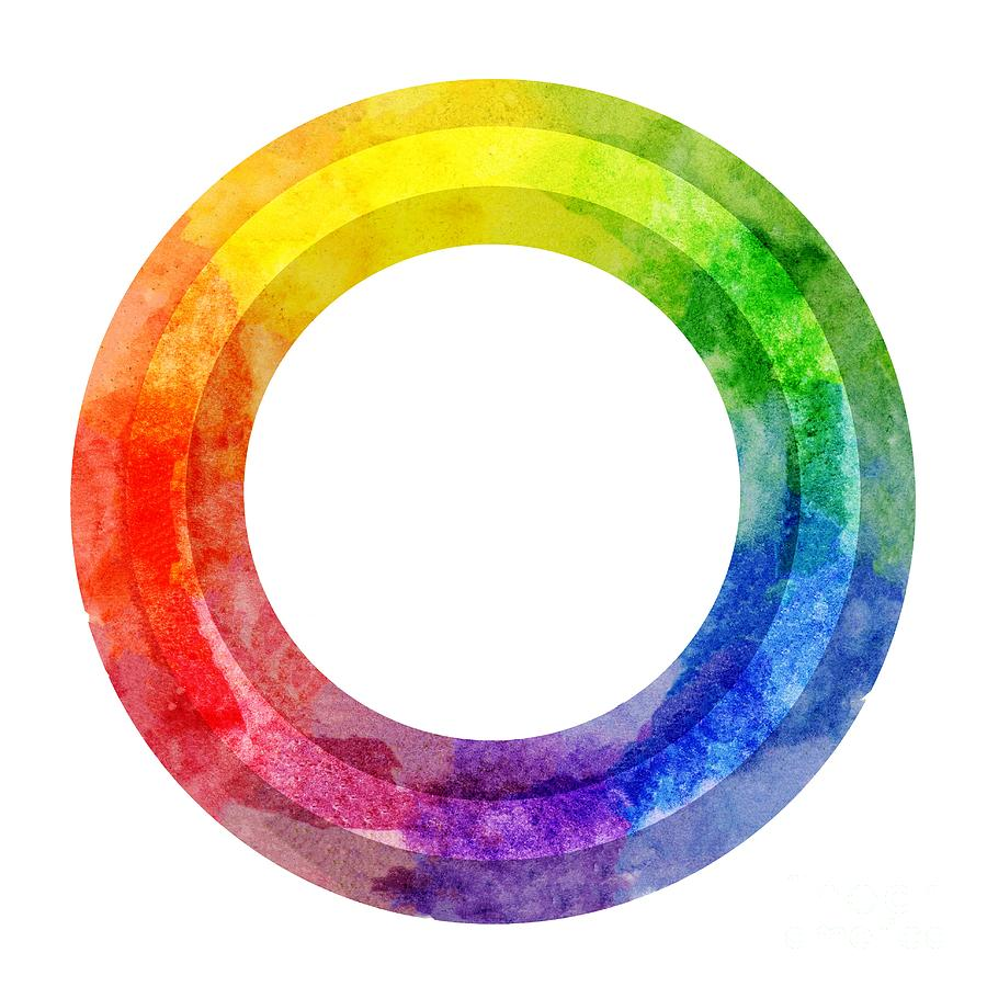 Rainbow Color Wheel by Lauren Heller