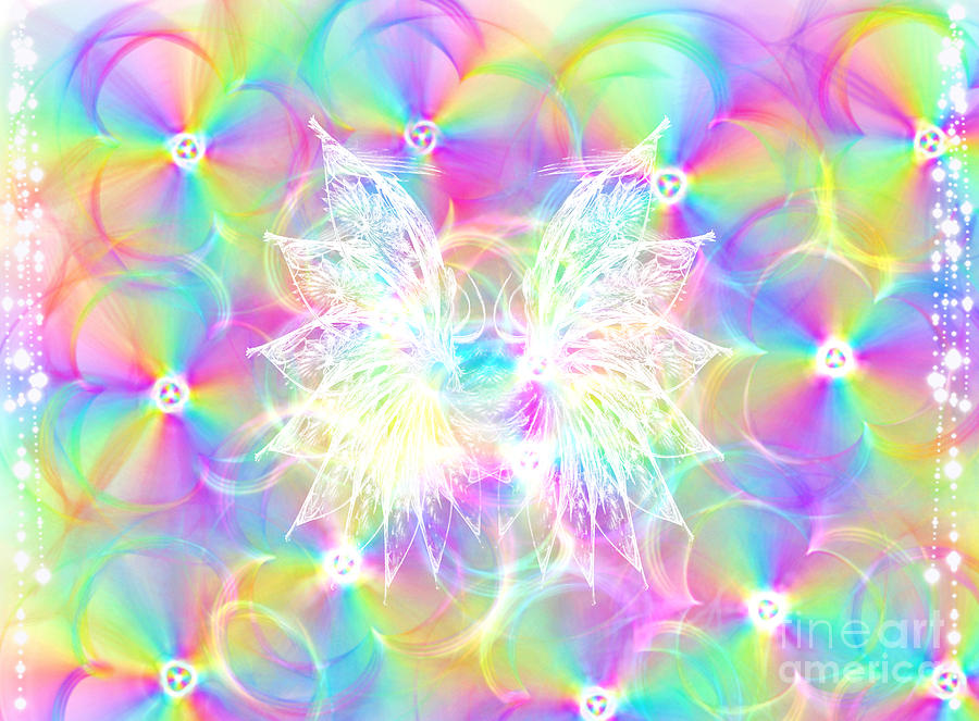 Rainbow Consciousness Sacred Geometry by Nathalie DAOUT