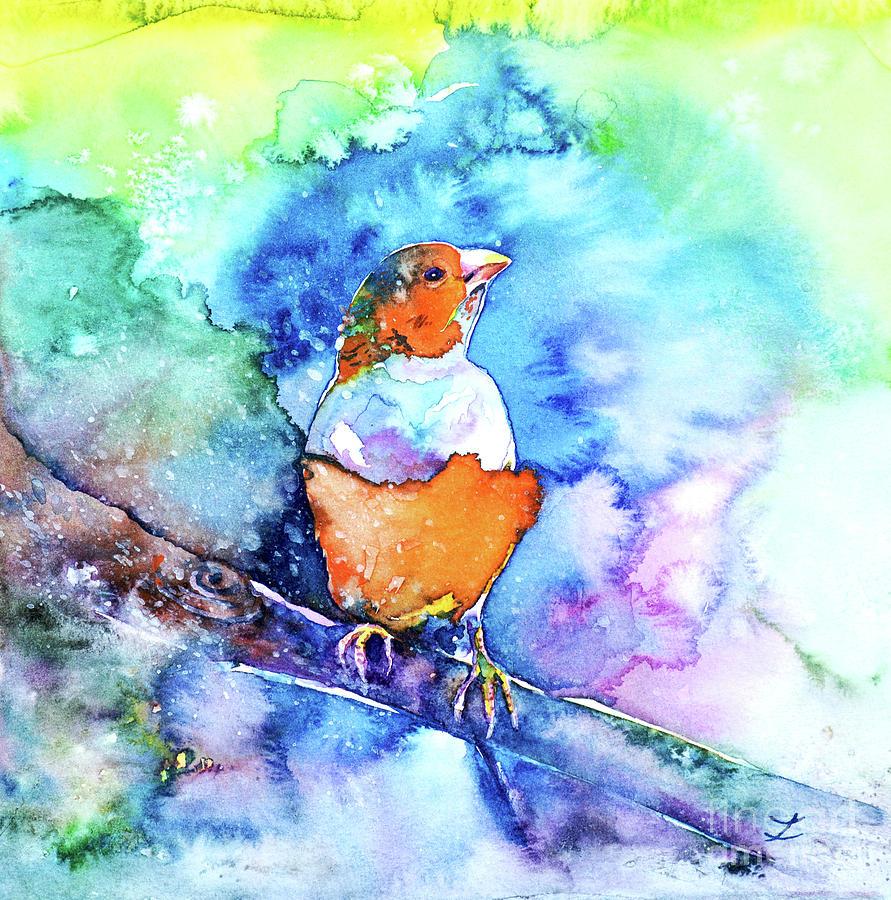 Rainbow Finch Painting