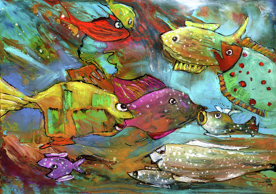 Rainbow Fishes 02 by Miki De Goodaboom