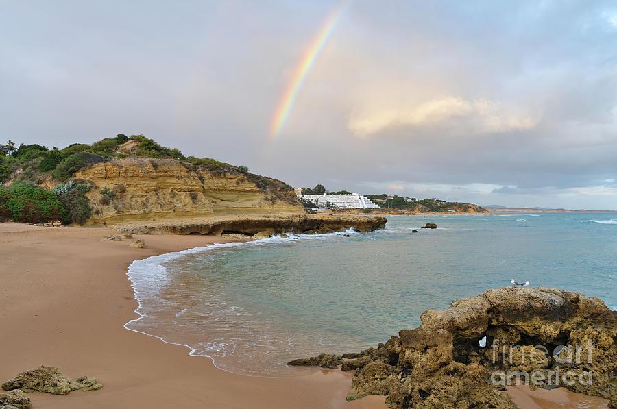Rainbow in Aveiros Beach by Angelo DeVal