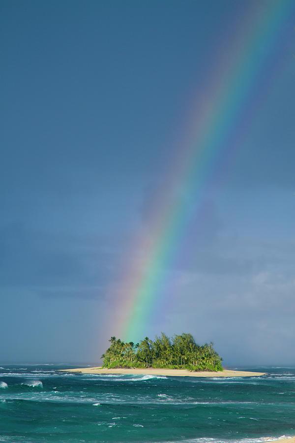 Rainbow Photograph - Rainbow Isle by Sean Davey