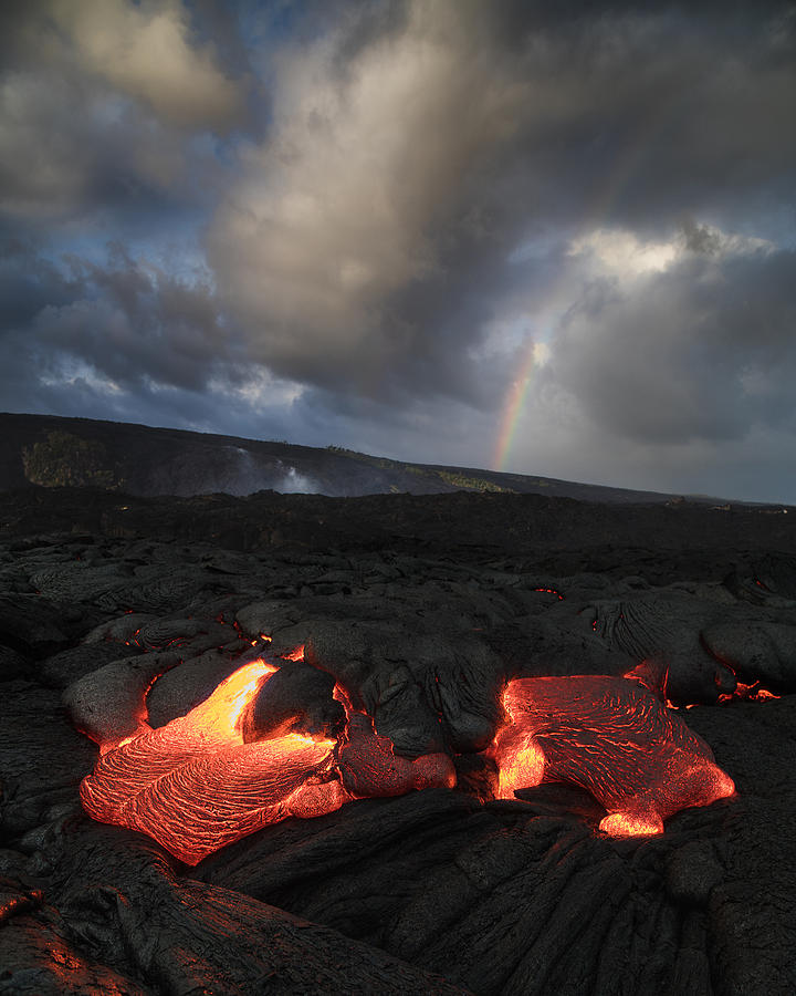 Rainbow Lava, Kalapana, Big Island, Hawaii Photograph