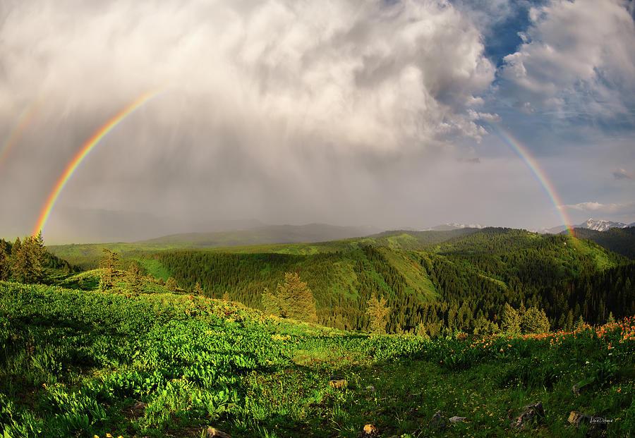 Altitude Photograph - Rainbow Light And Form by Leland D Howard