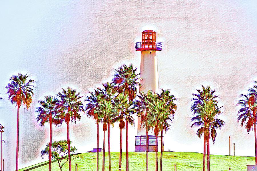 Rainbow Lighthouse Green/White Theme by Joe Lach