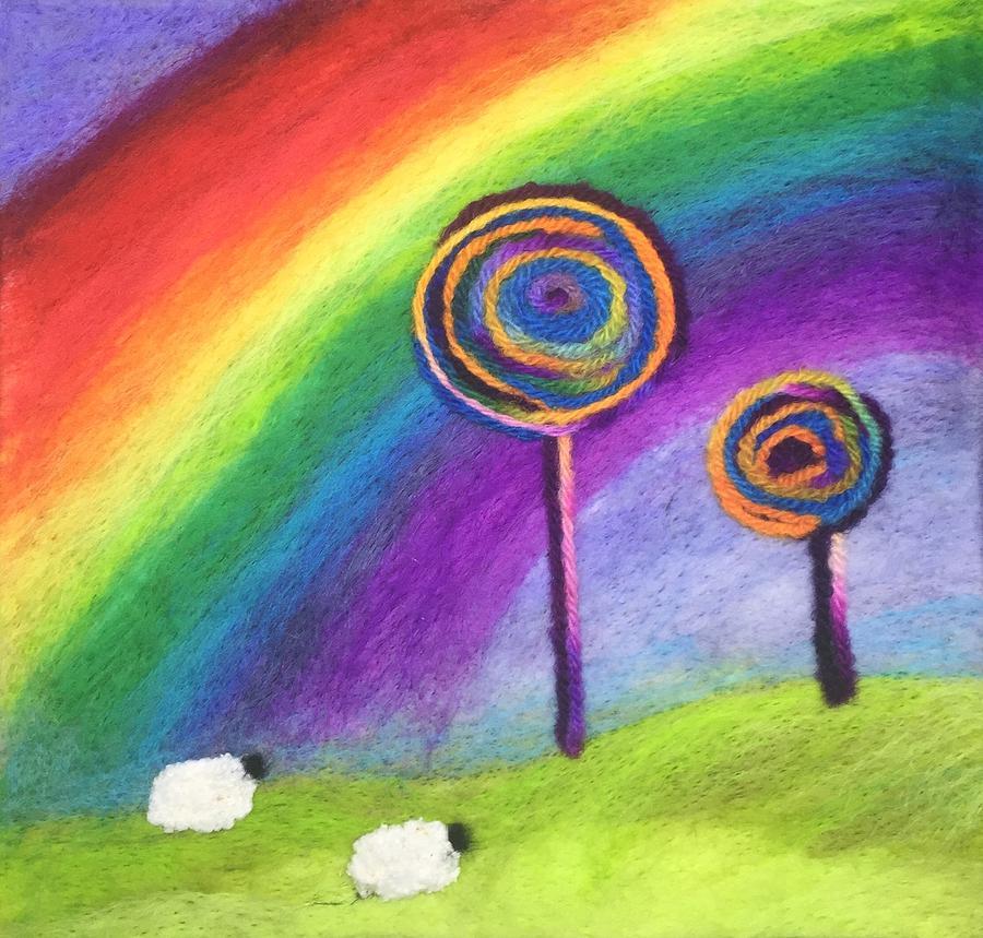 Rainbow Lollipop Trees by Ushma Sargeant