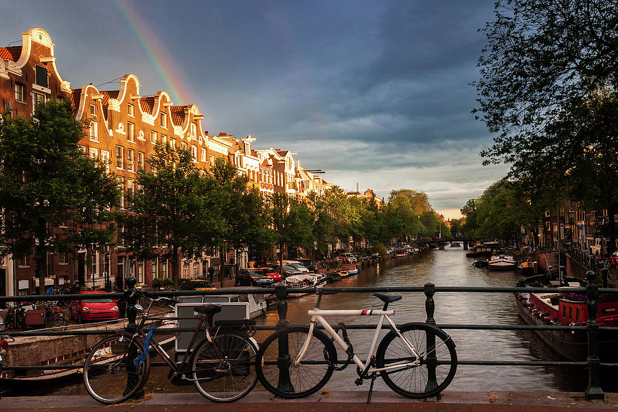 Amsterdam Photograph - Rainbow Over Amsterdam by Andrew Soundarajan