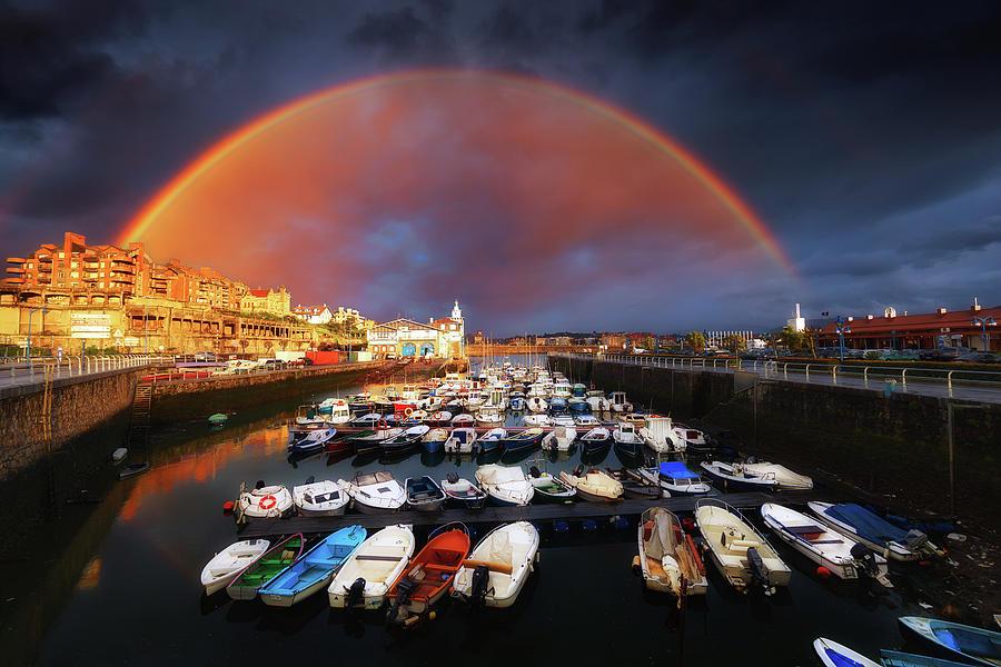 Rainbow over Arriluze in Getxo by Mikel Martinez de Osaba