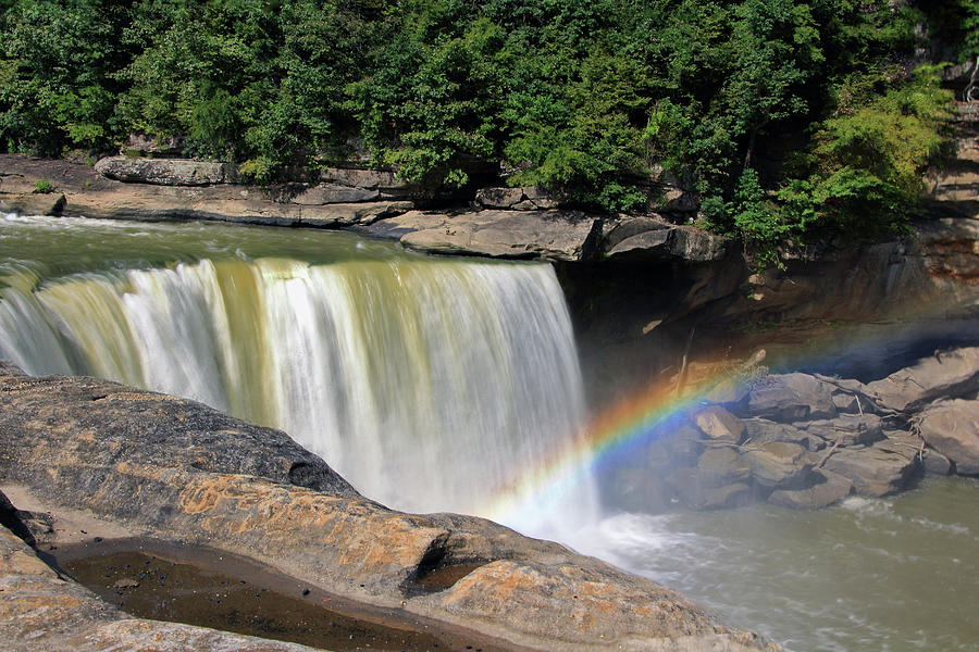Rainbow over Cumberland Falls by Angela Murdock