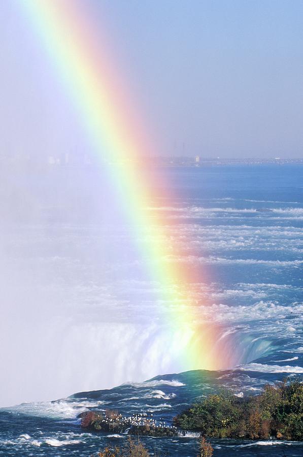 Rainbow Over Niagara Falls, New York Photograph by Visionsofamerica/joe Sohm
