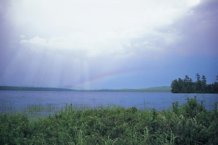 Rainbow Over Raquette Lake by Christopher Meade