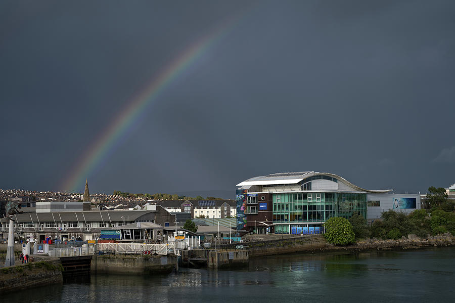 Rainbow Over Sutton Harbour by CHRIS DAY