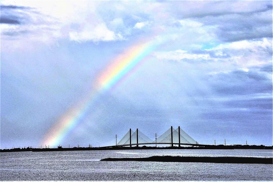 Rainbow Over the Indian River Inlet Bridge by Kim Bemis