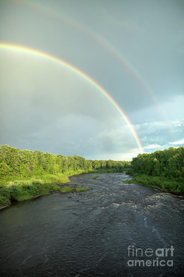Rainbow over the Littlefork River by Lori Dobbs