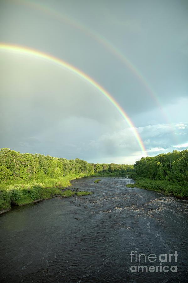 Rainbow over the Littlefork River by Lori Dobbs
